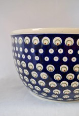 Polish Pottery Large Serving Bowl - Blue/Green/Dots