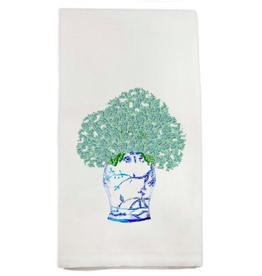 Towel - A Blue White Jar with Hydrangeas
