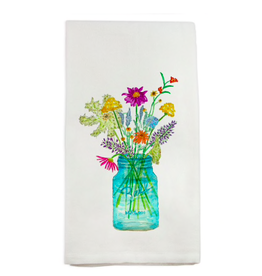 Towel - Wildflowers In a Mason Jar