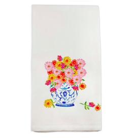Towel - A Ginger Jar with Zinnias Dish Towel