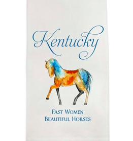 Towel - Kentucky Fast Women Beautiful Horses