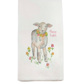 Towel - Lamb with Flowers