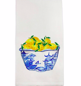 Towel - Blue/White Bowl with Lemons