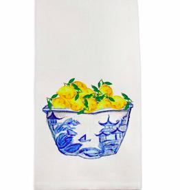 Towel - Blue/White Bowl with Lemons