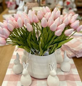 "Petite Tulip - Pink 9-Piece Bunch -14"" Long"