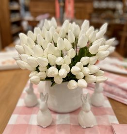 "Petite Tulip - White 9-Piece Bunch -14"" Long"