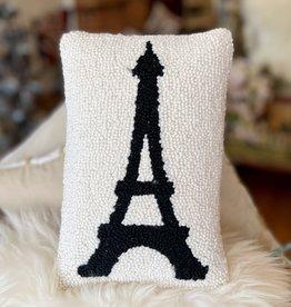 """Eiffel Tower Hook Pillow - 8"""" x 12"""""""