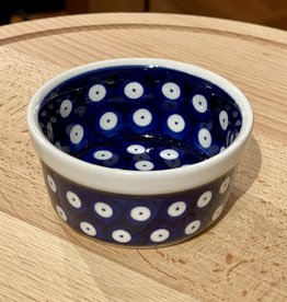 "Ramekin - Blue W/ White Dots (D42)  3.5"" x 1.75"""