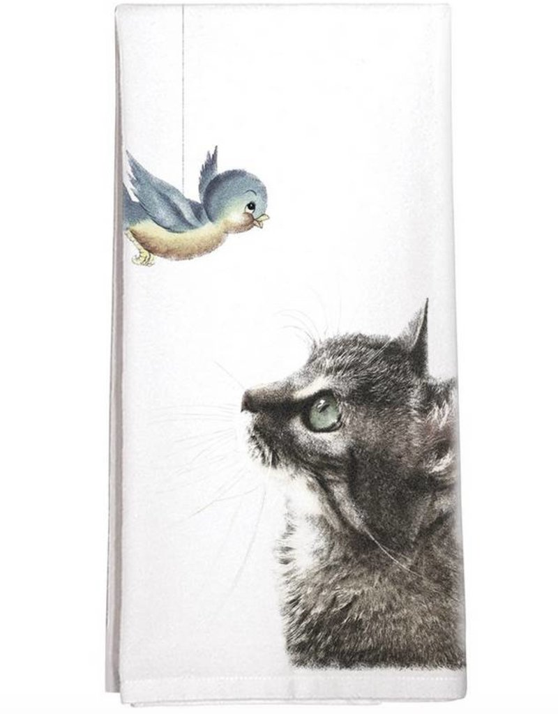 Cat Bird Towel - Single