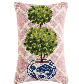 Ball Topiary Collection Hook Pillow  12X18""
