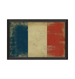 """FRENCH FLAG Framed Picture - 17.125"""" x 25.625"""""""
