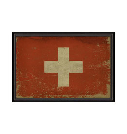 """SWISS FLAG Framed Picture - 17.125"""" x 25.625"""""""