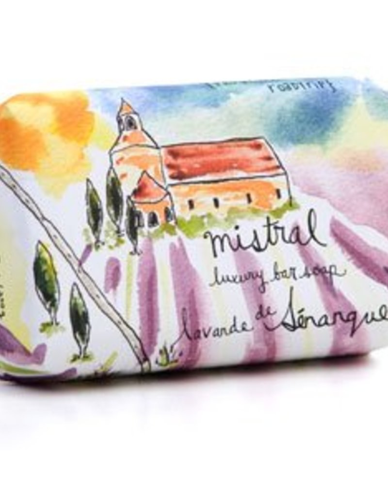 Senanque Lavender Soap 7 oz - Mistral Provence Roadtrip Collection