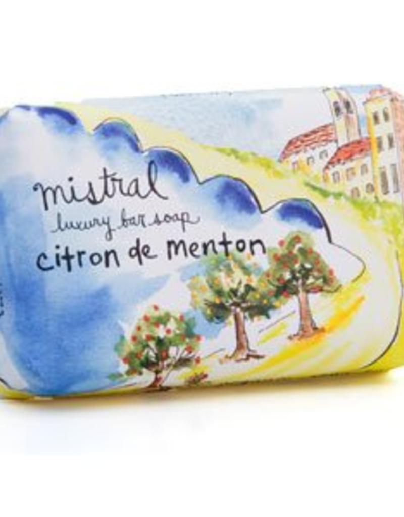 Menton Citrus Soap 7 oz - Mistral Provence Road Trip Collection Soap