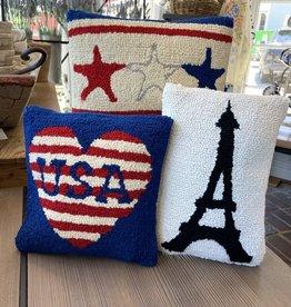 """USA Love - Hook Pillow 12"""" x 12"""""""