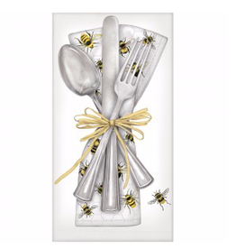 Scattered Bee Cutlery Napkins - Set of 4