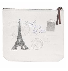 Eiffel Tower Canvas Pouch