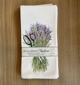 Lavender Shears Bundle Napkins - Set of 4