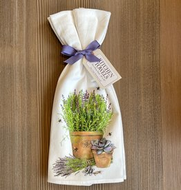 Lavender Pot Towel Set
