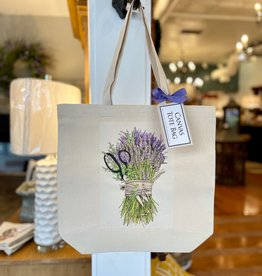 Lavender Shears Bundle Square Tote Bag