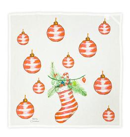 Square - Red Stripe Ornament