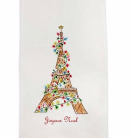 Linen Towel - Eiffel Tower w/Lights