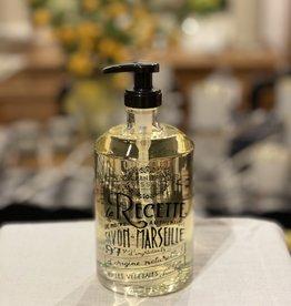 Panier Des Sens Liquid Marseille Soap: Relaxing Lavender in Reusable Glass Bottle - 16.9 oz.  Panier Des Sens!
