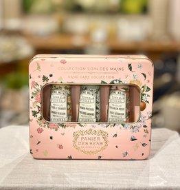 Panier Des Sens The Absolutes Tin Hand Care Gift Set: Jasmine, Orange Blossoms, & Rose Geranium Hand Creams.  Panier Des Sens!