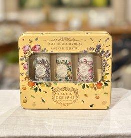 Panier Des Sens Essentials Tin Hand Care Gift Set: Lavender, Provence & Rose Hand Creams.  Panier Des Sens!