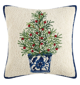 Holiday Chinoiserie Tree Hook Pillow 16x16