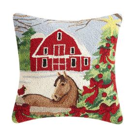 Horse Tree Hook Pillow 18x18