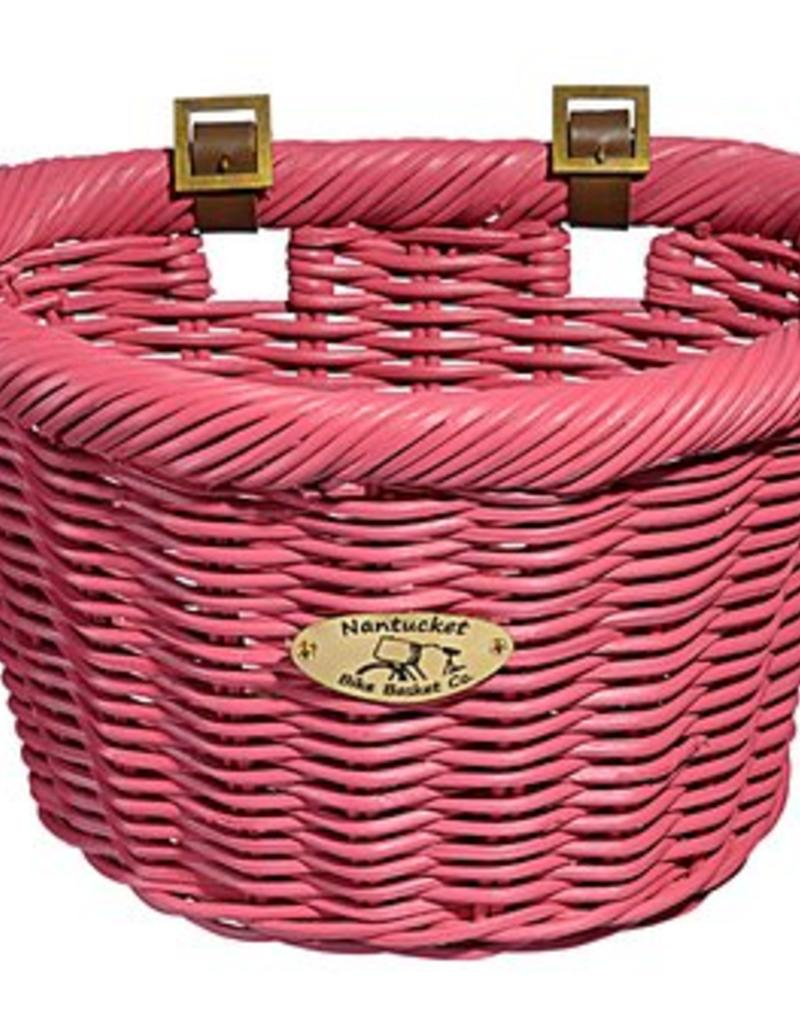 Bike Basket - Cruiser Adult D-Shape - Rose