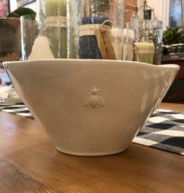 """La-Rochere La Rochere Bee Ceramic Serving Bowl - Ecru. 10""""x10"""""""