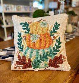 """Pumpkin Stack Hook Pillow 16"""" x 16"""""""