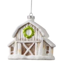 """Winter Barn Ornament - 4.5"""""""