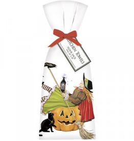 Witch In Pumpkin Towel - Set of 2