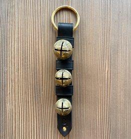 Belsnickel Bells Solid Brass Belsnickel Bells, Keepers, Lg Ring Top, Rivet Bottom - BLACK