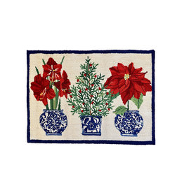 Holiday Chinoiserie Hook Rug - 2' X 3'