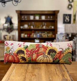"""Pumpkin Cream Hook Pillow -  8X24"""""""