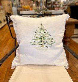 """Wintery Tree Linen Pillow - 24"""" x 24"""""""