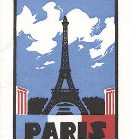 Paris  Letterpress Card
