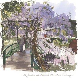 """Le Jardin de Claude Monet à Giverny Greeting Card - 6"""" x 6"""""""