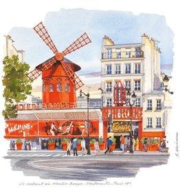 "Le Cabaret du Moulin Rouge, Montmartre Greeting Card - 6"" x 6"""