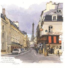 """La Tour Eiffel vue de la rue Saint-Dominique Greeting Card - 6"""" x 6"""""""