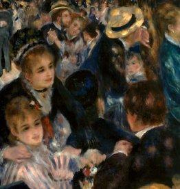 """Bal Du Moulin De La Galette Montmartre 1876 Greeting Card - 6"""" x 6"""""""