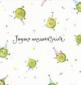 "Joyeux Anniversaire  (Louise Mulgrew) Greeting Card - 6"" x 6"""