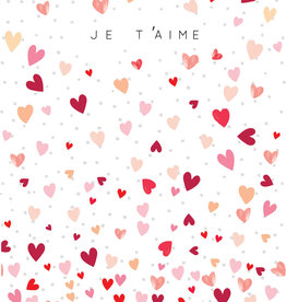 """Je T'aime Greeting Card - 4.75"""" x 6.75"""""""