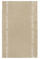 """Charvet Editions - Bistro/Tea Towel White Bon Appetit - 18""""x30"""""""
