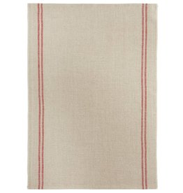 "Charvet Editions - Bistro/Tea Towel Natural & Red Country - 20""x30"""