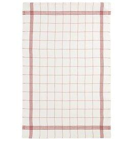 "Charvet Editions Charvet Editions - Bistro/Tea Towel Red & White Bistro Lave - 20""x30"""